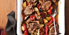 The name of this delicious lamb recipe is inspired by the one-dish meal French village women bake in community ovens. The lamb is cooked on a rack, and as it slowly cooks, the juice drips 'tears' onto the vegetables below.