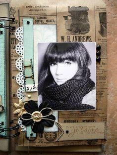 "Mini album ""toi"" d'après un projet de Patmiaou - le scrap de Carol"