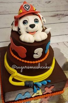 Paw Patrol birthday cake. Marshall cake. :)                                                                                                                                                                                 More
