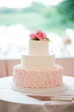 pretty pink rosette cake