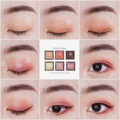 korean makeup Korean makeup hacks: There are several ways that exist eliminate dark bags benea. Korean Makeup Look, Korean Makeup Tips, Asian Eye Makeup, Korean Makeup Tutorials, Asian Make Up, Korean Make Up, Eye Make Up, Body Makeup, Beauty Makeup