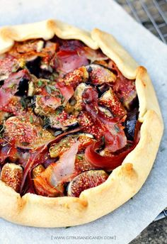 SMALL BITES:  Fig, Prosciutto and Thyme Galettes