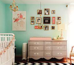 Modern Vintage: Girl - Modern Nursery Trend Watch: Gray  Teal | Disney Baby