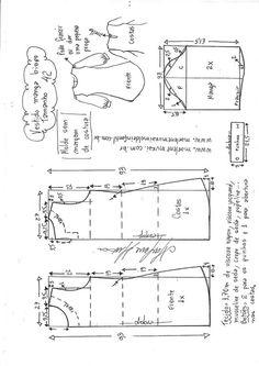 Blusa com queda de ombro e gola boneca - DIY - molde, corte e costura - Marlene Mukai Baby Dress Patterns, Kids Patterns, Sewing Patterns Free, Free Sewing, Clothing Patterns, Design Patterns, Free Pattern, Sewing Clothes, Diy Clothes