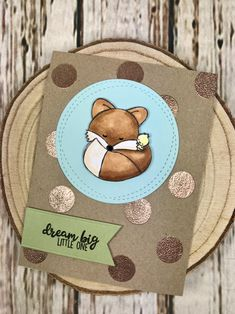 Dream Big Little One.  Stamps by Mama Makes.   www.sharon-curtis.com #mamamakesstore #rosegold #cardmaking #stamping #copiccoloring #wowembossing #mft