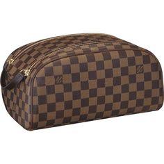 Louis Vuitton Damier Ebene Canvas King Size Toiletry Bag N47527