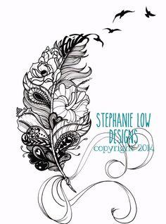 Custom Tattoo Illustration for Heather F. by SlowDesigns on Etsy kepeann@gmail.com