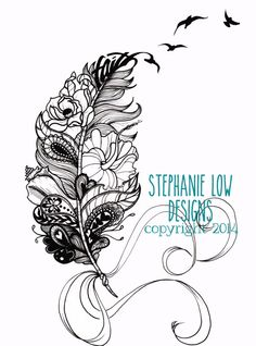 Custom Tattoo Illustration for Heather F. by SlowDesigns on Etsy kepeann@gmail.com
