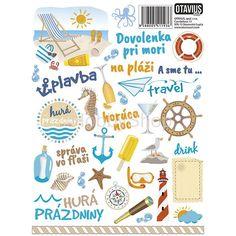 samolepky s tematikou dovolenka so slovenskými názvami Scrapbooks, Decoupage, Bullet Journal, Scrapbooking, Scrapbook, Guest Books