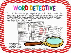 Word Wall Centers For Any Word Wall!
