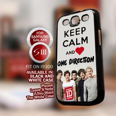 Keep Calm and love one direction for Samsung Galaxy S3 case cover