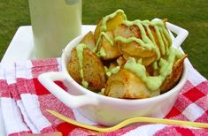 Papas con Salsa de Aguacate (Potatoes with Avocado Sauce)   My Colombian Recipes