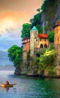 Old hermitage on the banks of Lake Maggiore in Lombardy, Italy • photo: Daniel Metz on 500px
