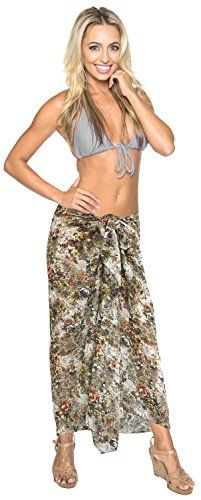Sarong for Bathing Suit Swimsuit Swimwear Beach Bikini Cover up Pareo Printed Chiffon Printed Black Free Size One Size Spring Summer 2017 -- Click image for more details.  This link participates in Amazon Service LLC Associates Program, a program designed to let participant earn advertising fees by advertising and linking to Amazon.com.