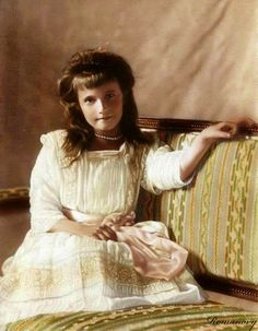 Anastasia - born on 18 June 1901, she was the 4th daughter born to Nicholas and Alexandra. She had just turned 17 when she was killed on 17 July 1918