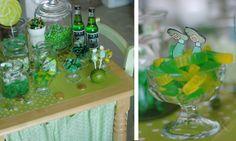 St. Patrick's Day green dessert buffet leprechaun