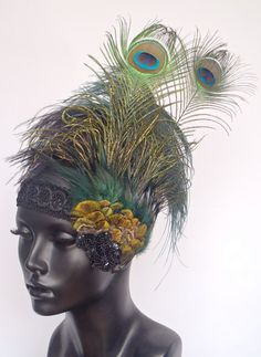 MADE TO ORDER Flapper Peacock Feather by MissGDesignsShop on Etsy, $130.00