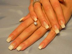 Soft French nail art...can be done with a sponge too