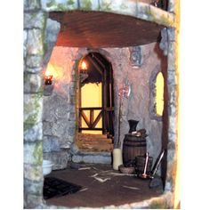 Entry to inside of castle and outside fountain area