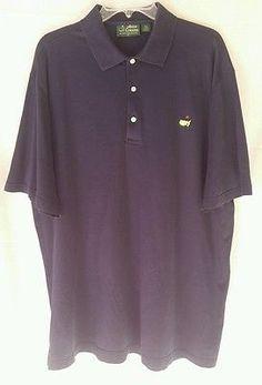 Amen Corner Mens XL Navy Blue Masters Golf Polo Shirt Pima Cotton
