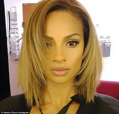 Feeling fresh: Alesha Dixon, 36, has gone blonde on account of an 'exciting new project with HTC' - and she's looking totally gorgeous - she showed off her brand new look on Instagram on Tuesday