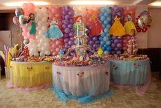 Decoración de comuniones en casa: Fotos de ideas - Mesas de decoración de comuniones para niñas