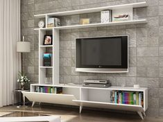 How and where to make a modern TV cabinet design? Tv Unit Decor, Tv Wall Decor, Wall Tv, Modern Tv Wall Units, Modern Tv Cabinet, Tv Unit Furniture, Furniture Design, Tv Wall Cabinets, Living Room Tv Unit Designs