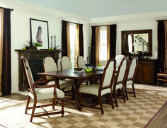 Traditional formal dinning room by Bernhardt.