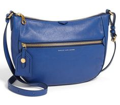 MARC BY MARC JACOBS GLOBETROTTER MESSENGER BAG $398 Blue Leather Crossboy Purse #MarcbyMarcJacobs #MessengerCrossBody