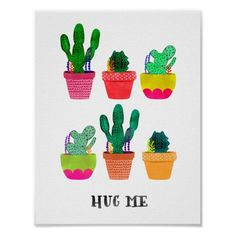 Customizable #Cactus #Cute #Girly #Handdraw #Handdrawing #Pattern #Pink #Plant #Succulent #Succulents #Trendy #Watercolour Cute girly pink watercolour cactus pattern poster available WorldWide on http://bit.ly/2j4WXbW