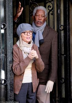 Diane Keaton and Morgan Freeman