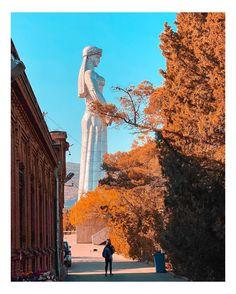 Mother of Georgia statue (Kartlis Deda) - Tbilisi, Georgia 🇬🇪 Georgia Country, Sky Aesthetic, Future Travel, Adventure Time, Besties, Travel Inspiration, Travelling, Russia, Tourism
