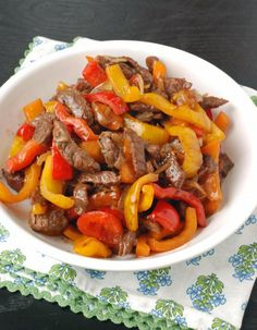 Black Pepper Beef With Soy, Oyster And Worcestershire Sauces And Sherry Marinade Asian Recipes, Mexican Food Recipes, Beef Recipes, Cooking Recipes, Ethnic Recipes, Peppered Beef Recipe, Chinese Food Menu, Black Pepper Beef, Pepper Steak