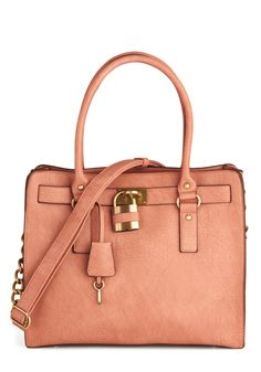 """Full Course Load Bag in Rose - 15"""" by Melie Bianco - Pink, Gold, Solid, Casual, Work, Pastel, Variation"""
