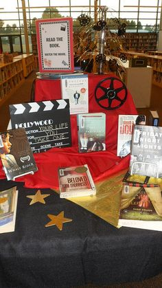 Read the Book - Watch the Movie library display by Colette Cassinelli, via Flickr