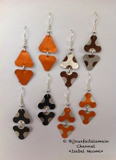 Hello everybody, This video shows you how to mushroom shaped triangle earrings with Nespresso capsules. Diy Nespresso, Coffee Branding, Coffee Pods, Triangle Earrings, Polymer Clay Art, Diy And Crafts, Handmade Jewelry, Etsy, Jewelry Making