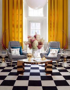 Яркая гостиная Джонатан Адлер Jonathan Adler crea una colección para H&M Home- Micasarevista Jonathan Adler, Top Interior Designers, Modern Interior Design, Estilo Kitsch, Table Sofa, Casa Pop, Maximalist Interior, American Interior, Home Decor