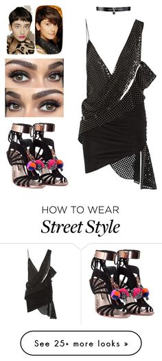 """My kind of pixie girl street style"" by arini-lioni on Polyvore featuring Sophia Webster, Anthony Vaccarello, Lassen and Fallon"
