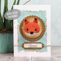 🦊We are loving making these cute cards for Christmas this year! This time it's our gorgeous needle felted fox brooch which has been pinned onto a crafted card ready to give as a gift. Simply pop the finished card into a gift box and he'll be sure to make someone's day. (Handmade card ✔️handmade gift ✔️lots of smiles all round ✔️). 😍Check out how to make the card on our website under Written Tutorials.   Happy crafting!  #christmascrafting #handmadechristmas #needlefelting #christmascards Handmade Christmas, Christmas Crafts, Felt Fox, Felt Brooch, Cute Cards, Needle Felting, Card Making, Crochet Hats, Crafting