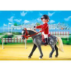 Playmobil Country Koń trakeński z brązowo-żółtym boksem stajennym, 5110, klocki