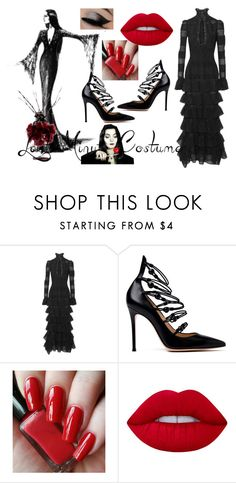 """""""Normal Is An Illusion. What is Normal To a Spider Is Chaos to a Fly."""" by mocking-birdie on Polyvore featuring Alexander McQueen, Gianvito Rossi, Lime Crime, addamsfamily and feelinmyself"""