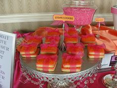 Pink and Orange Wedding Ideas | The Amazing Candy Buffets and Fun Food Designers of Sugar Bunch ...