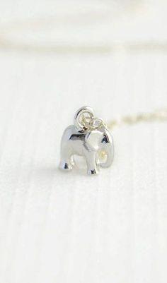 Tiny Silver Elephant Bracelet