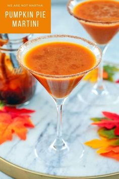 This Pumpkin Pie Martini is the perfect way to celebrate all things fall and tastes just like pumpkin pie in a glass! | wearenotmartha.com #pumpkinpie #pumpkinmartini #fallcocktails #pumpkincocktails #pumpkin Pumpkin Bars, Pumpkin Dessert, Pumpkin Cheesecake, Pumpkin Pie Spice, Pumpkin Puree, Easy Drink Recipes, Best Cocktail Recipes, Coffee Recipes, Pumpkin Martini