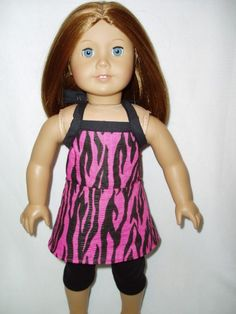INSPIRATION ONLY - Zebra Outfit 18 inch doll clothes fits American Girl Top Leggings