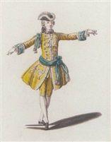 Artiste :     Louis-Rene Boquet     (français, 1717 - 1814) Titre :     Étude de costume de ballet masculin Support :     pen and India ink, wash and watercolor Taille :     23,5 x 17 cm. (9.3 x 6.7 in.