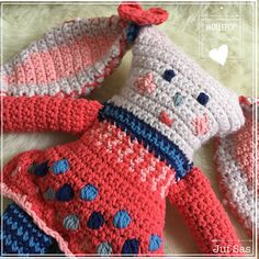 Knuffel Wollepop handmade by Juf Sas met gratis patroon | Creatief | Zeeland | Juf Sas
