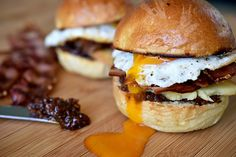 Best Brekky Burgers with Homemade Bacon Jam