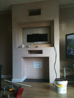 Afbeeldingsresultaat Voor How To Make A False Chimney Breast House Tv And Electric Fire