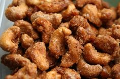 Cinnamon Roasted Cashews Recipe, replace sugar with splenda and use pecans Cinnamon Roasted Cashews Recipe, Cashew Recipes, Roasted Nuts, Roasted Chicken, Potato Recipes, Vegetable Recipes, Vegetarian Recipes, Appetizers, Sweets